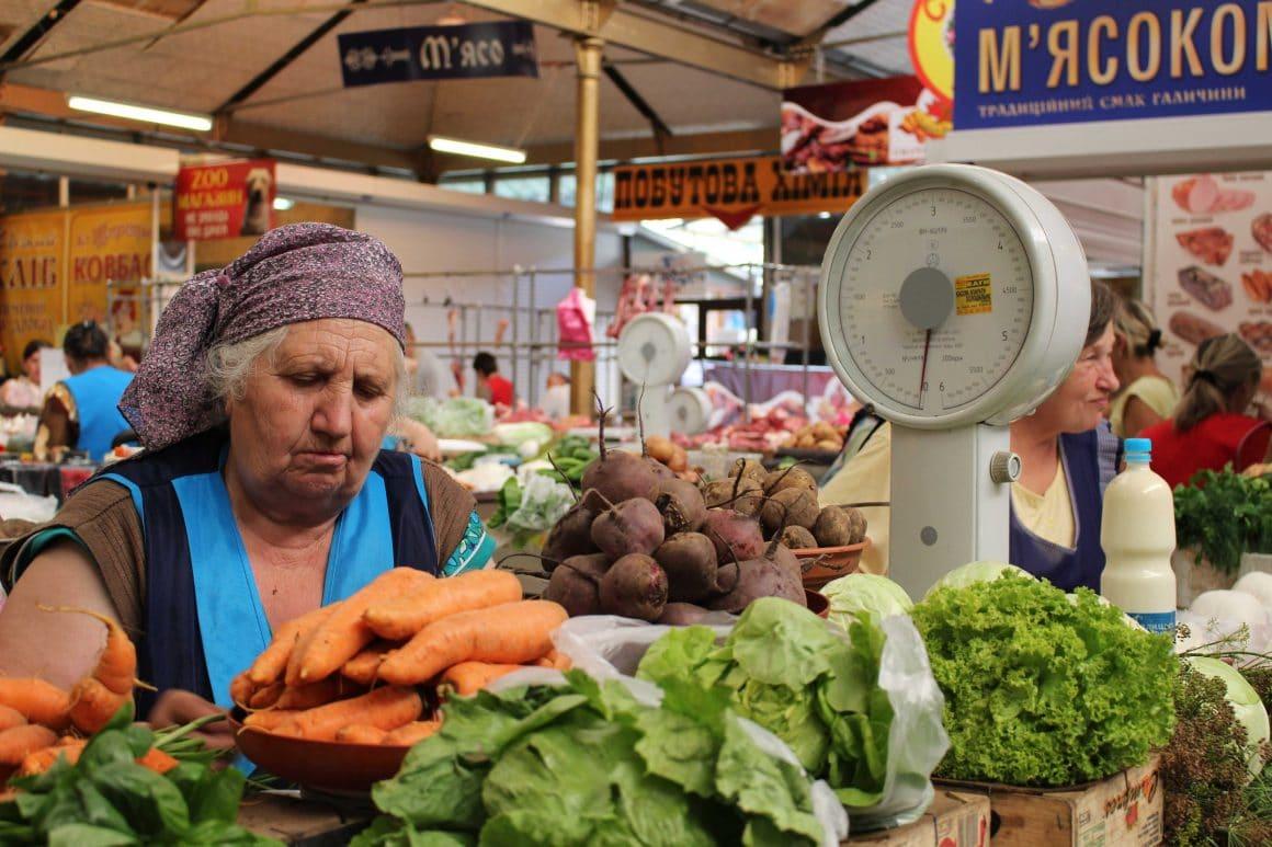 Lviv Oekraine markt