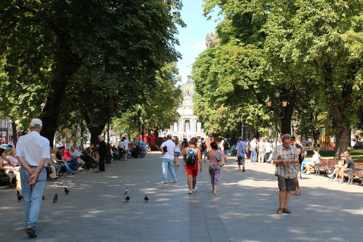 Svoboda prospekt lviv oekraine