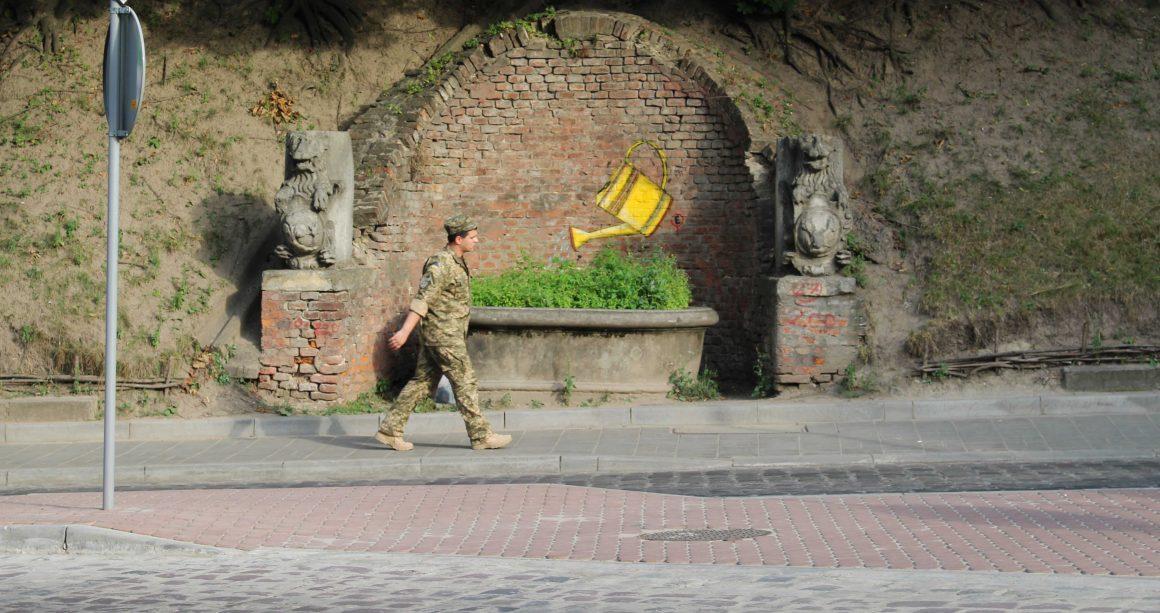 Soldaat Lviv Oekraine