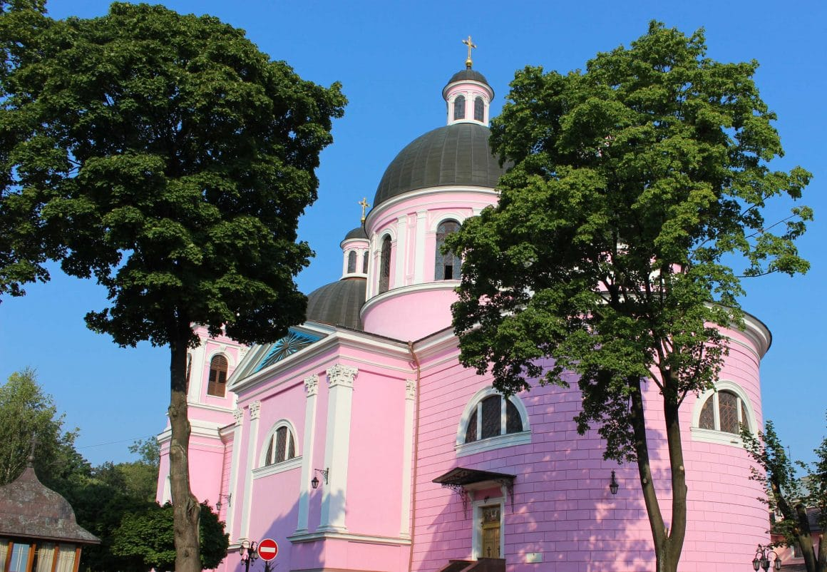 Pink Church Chernivtsi