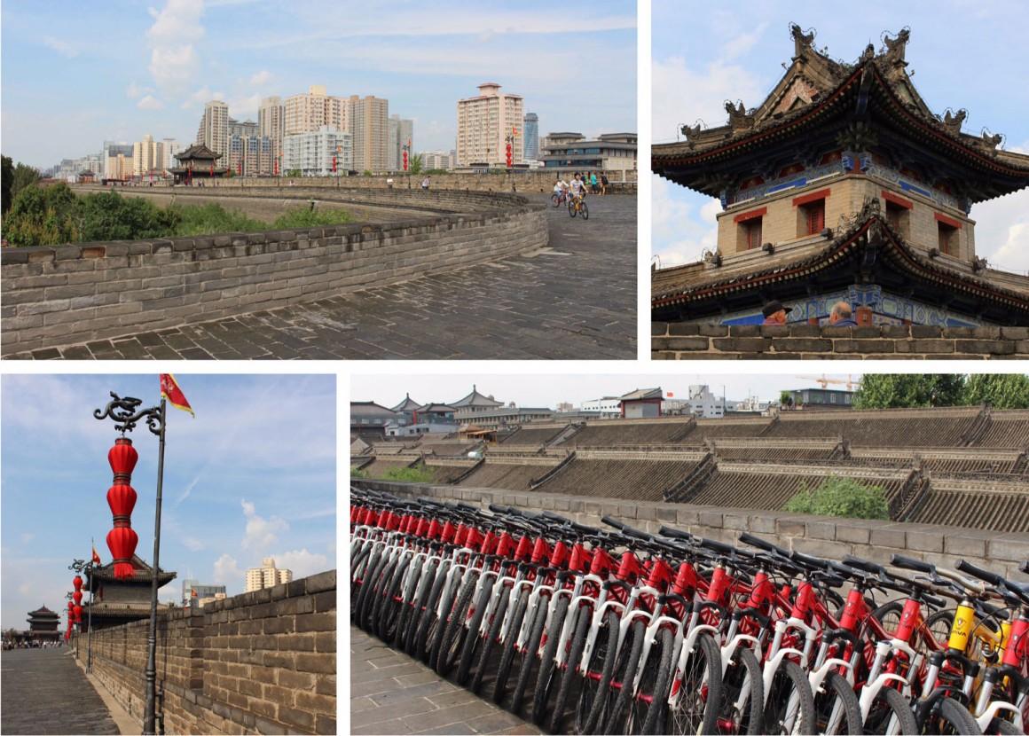 Xian China wall biking