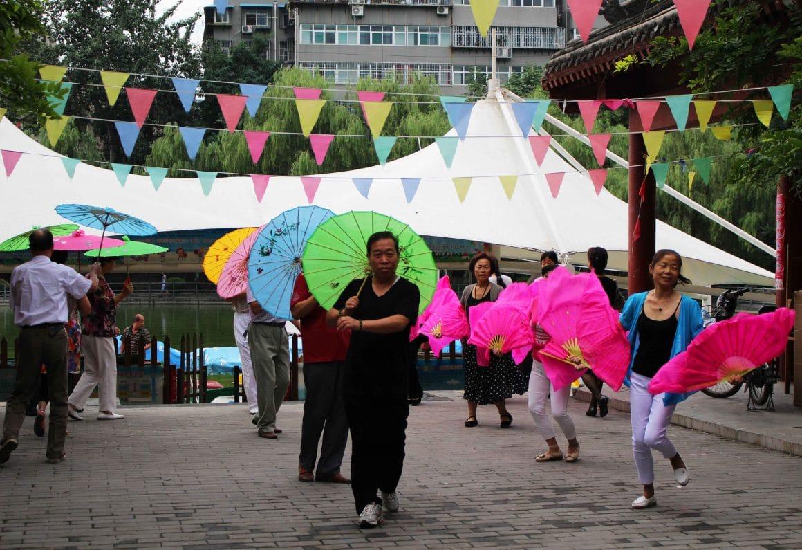 Dansen park China paraplu