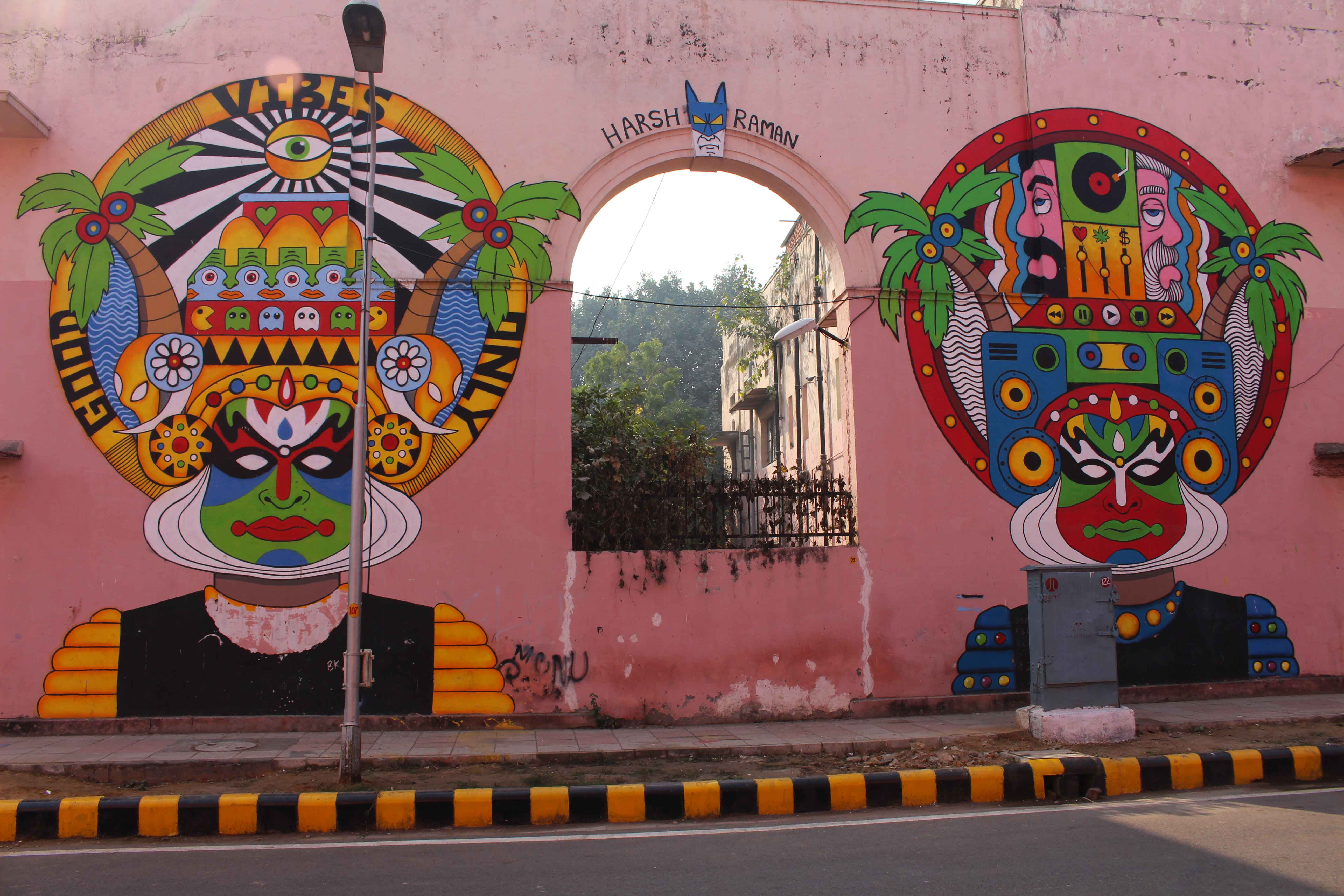 Street art Delhi India