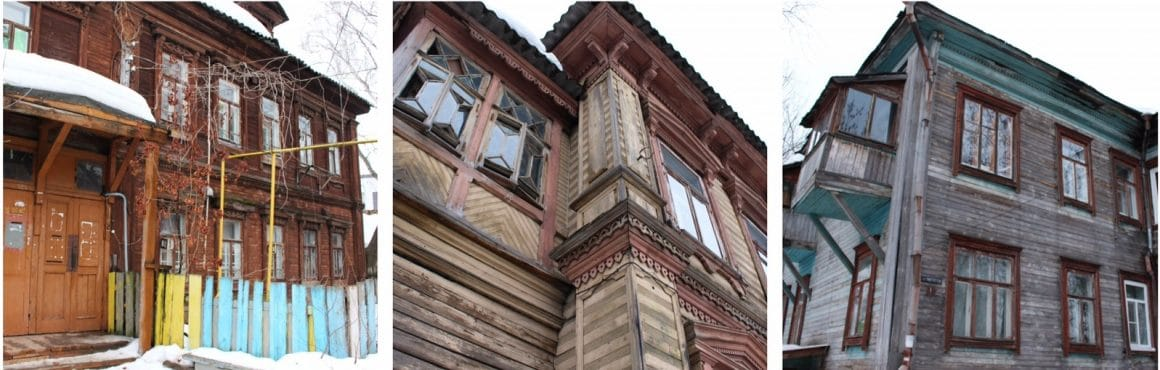 Nizhny Novgorod houten huizen