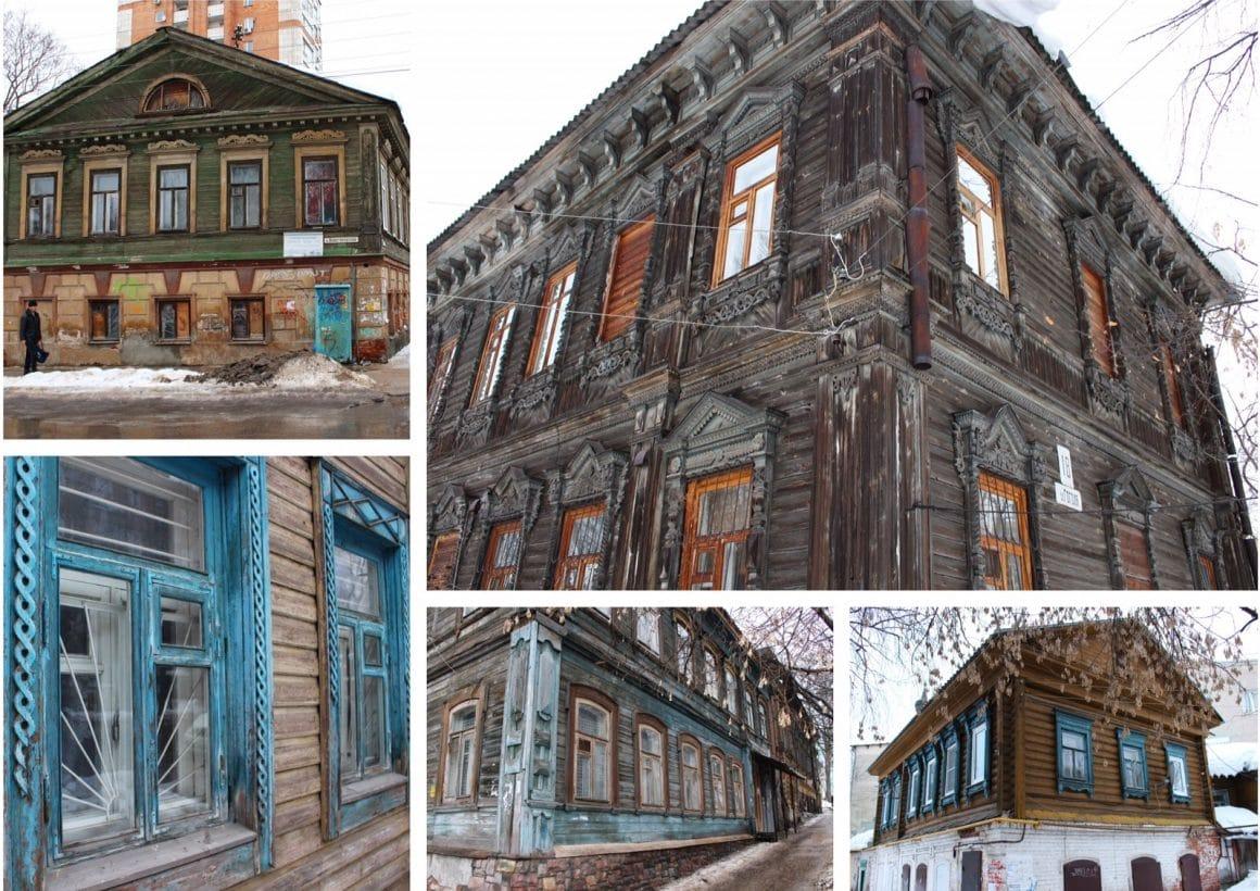 Houten huizen Nizhny Novgorod