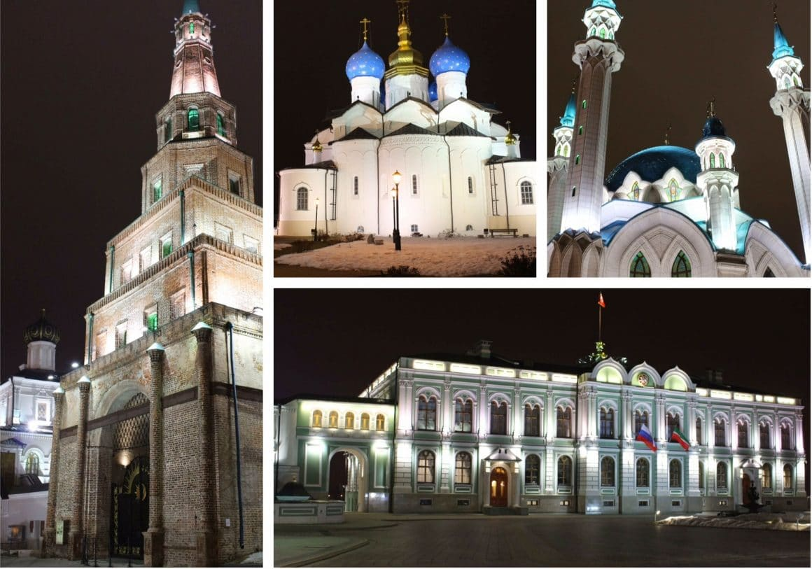 Kazan Rusland Kremlin by night