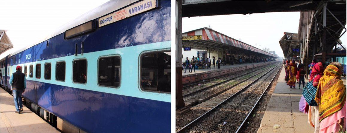 Met de trein naar Varanasi India