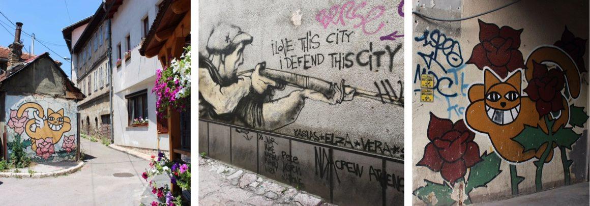 Street art Sarajevo Bosnia