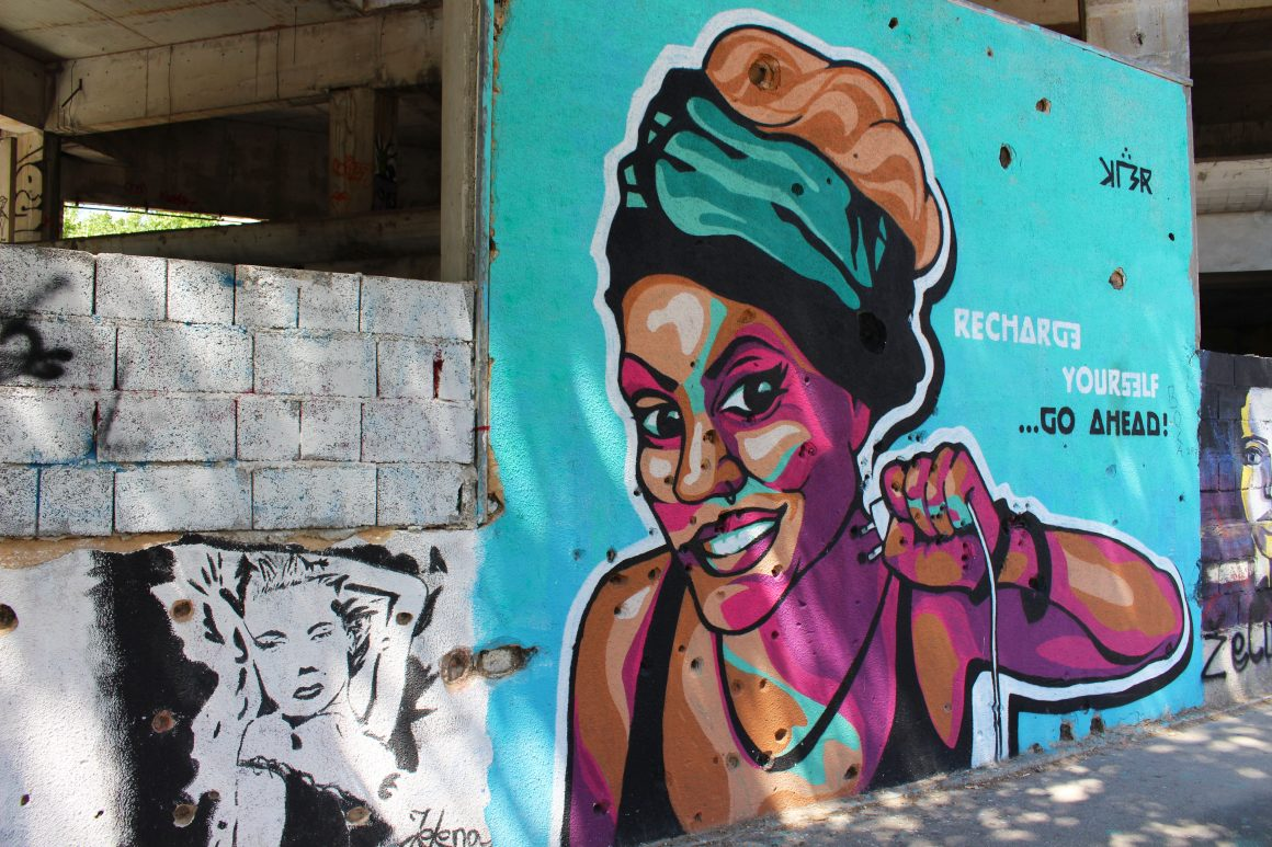 Street art Mostar Bosnia