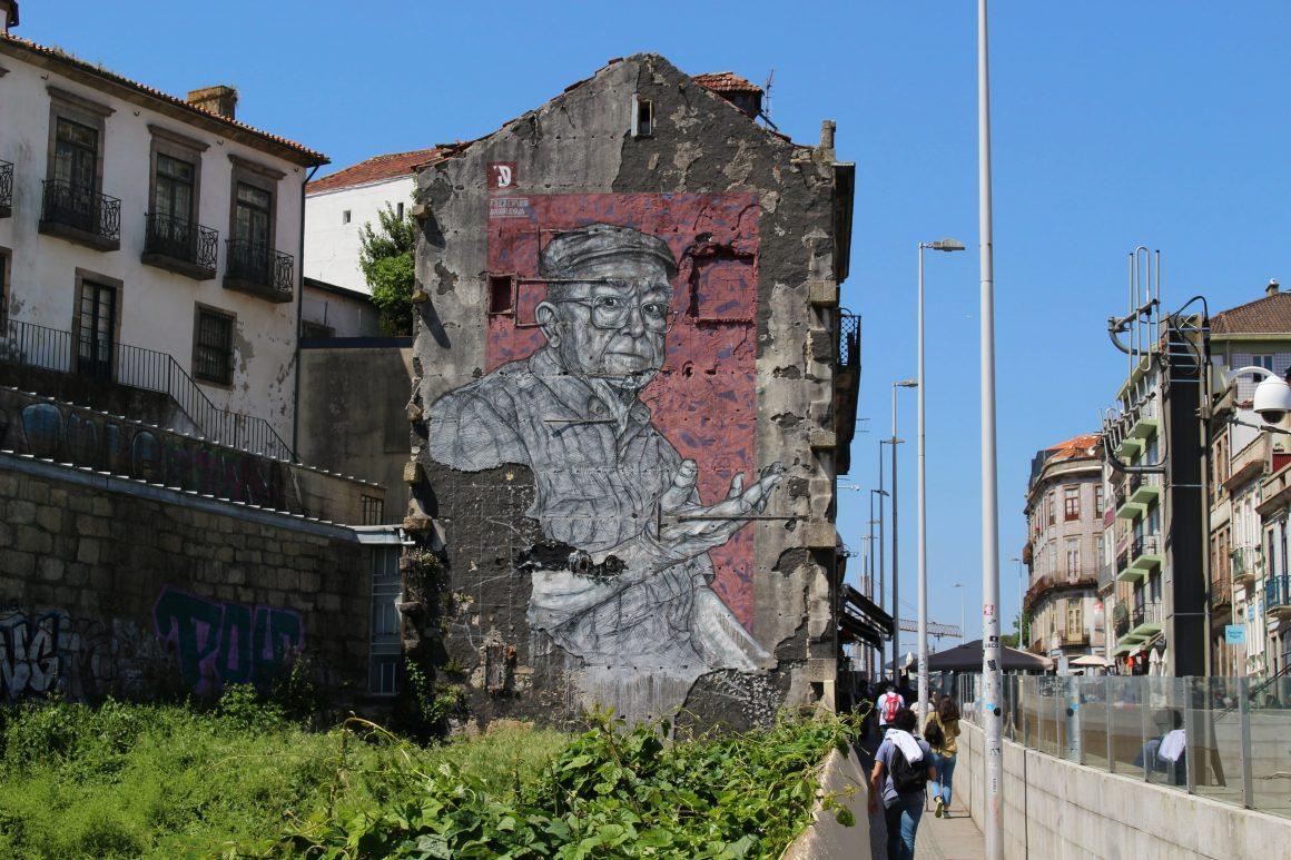 Street art Luis I brug porto