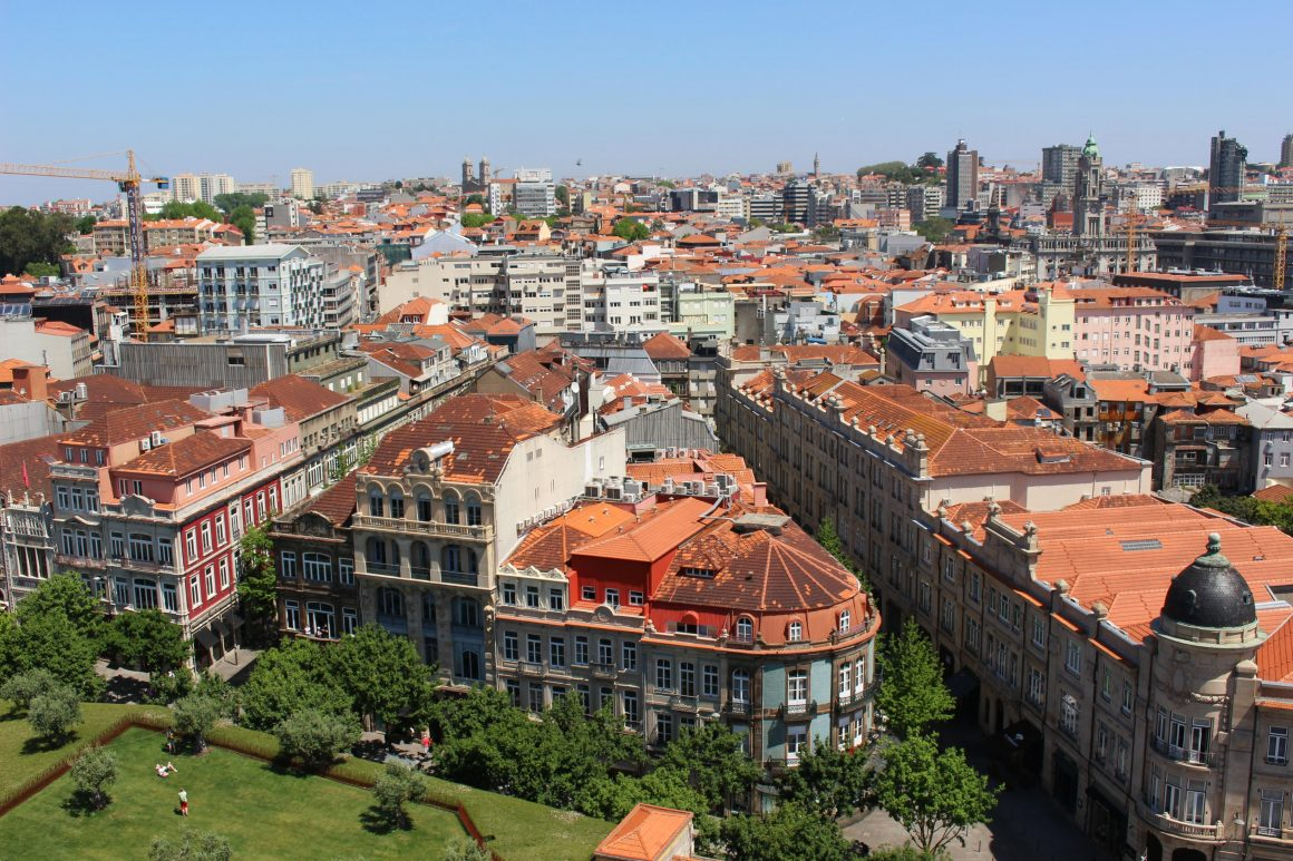 View from clerigos tower Porto