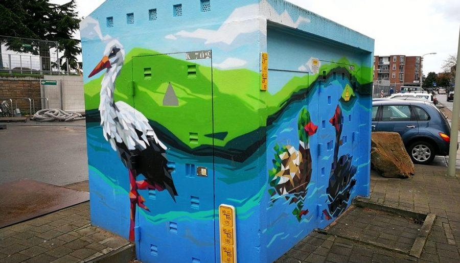 Haagse street art: stroomhuisjes van Segbroek