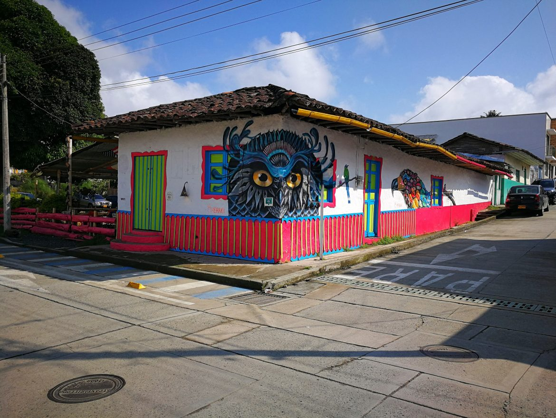 Street art Salento Colombia