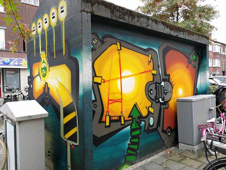 Stroomhuisjes street art Den Haag