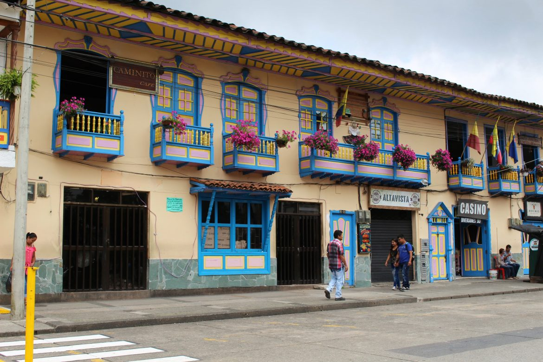 Filandia Colombia plein
