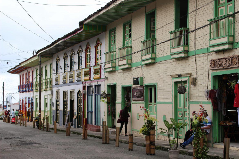Filandia Colombia straatjes