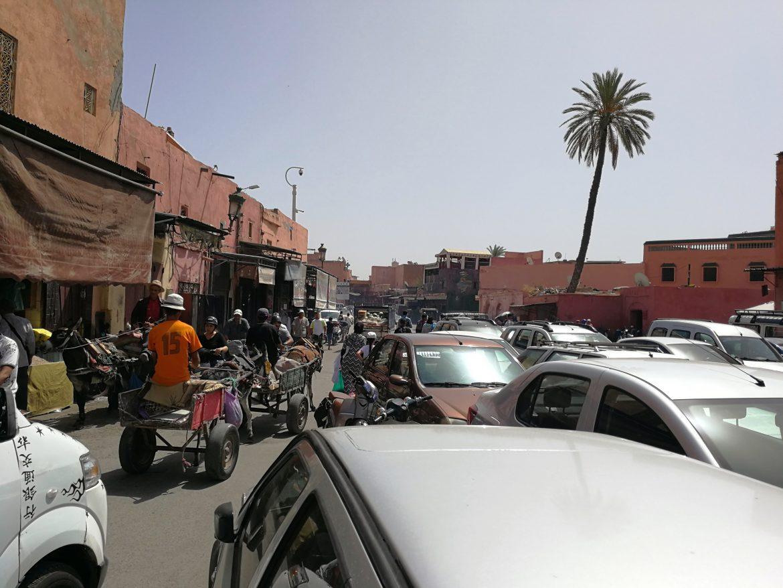 Marrakesh Morocco chaos
