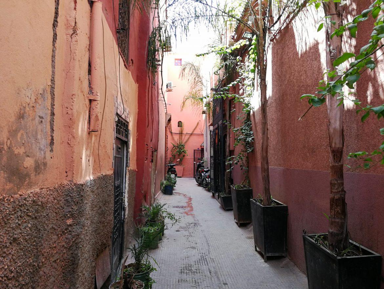 Rode straatjes Marrakech