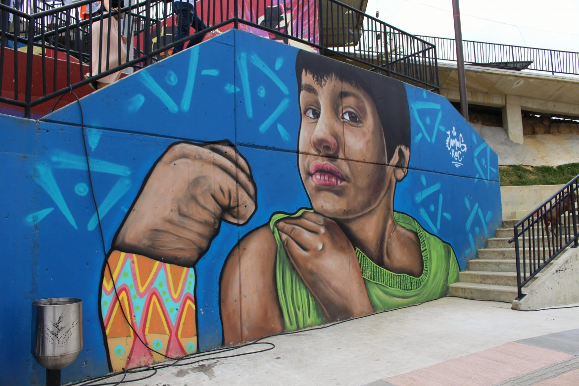 Street art area comuna 13