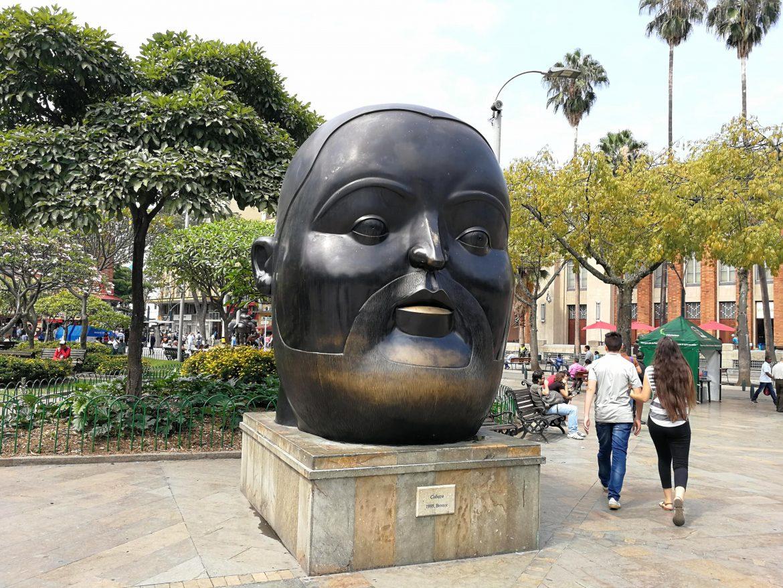 Botero hoofd Medellin