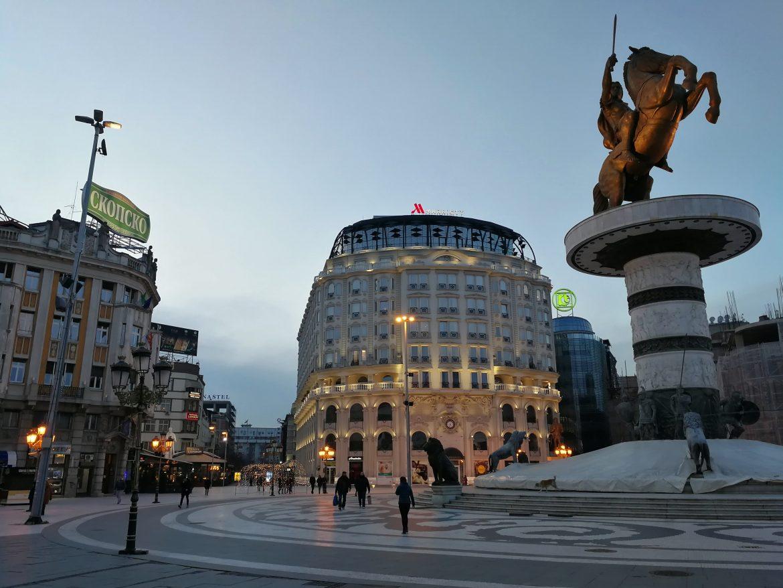 Statue Skopje Macedonia