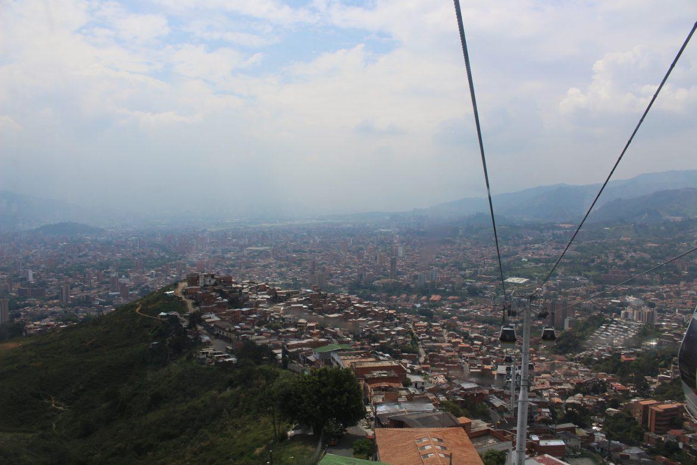 Kabelbaan Medellin vanuit de lucht