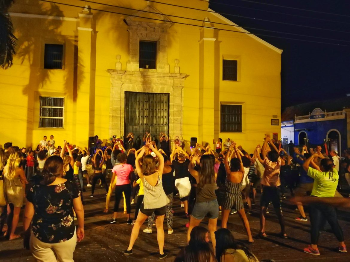 Dancing in Getsemani Colombia