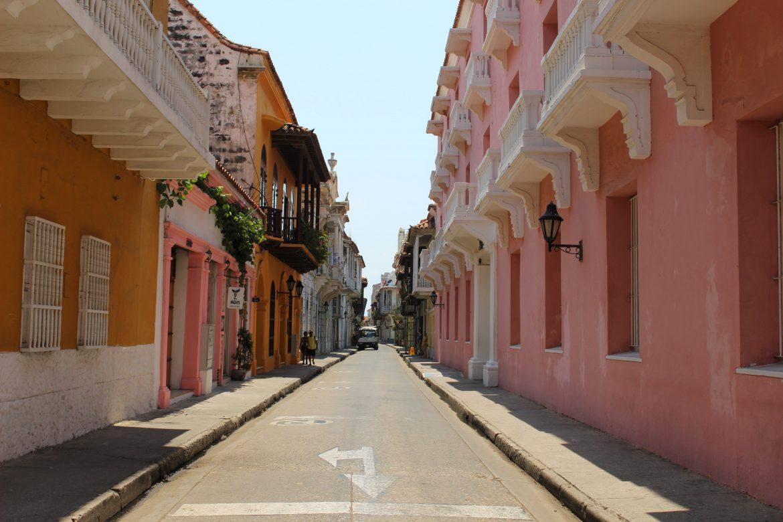 Pink street Cartagena