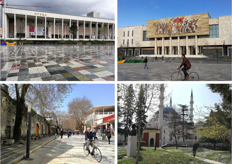 Skanderbeg plein en omgeving Tirana