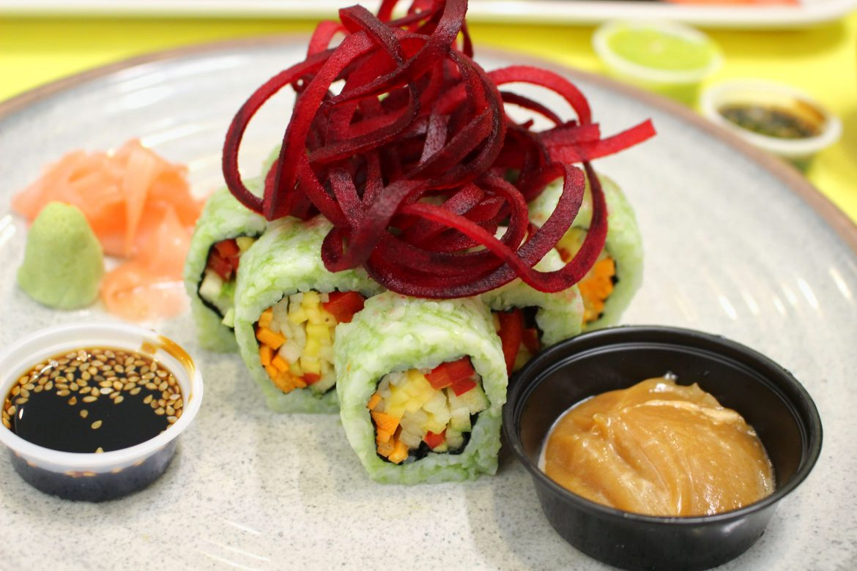 Vegan sushi Pezetarian Cartagena