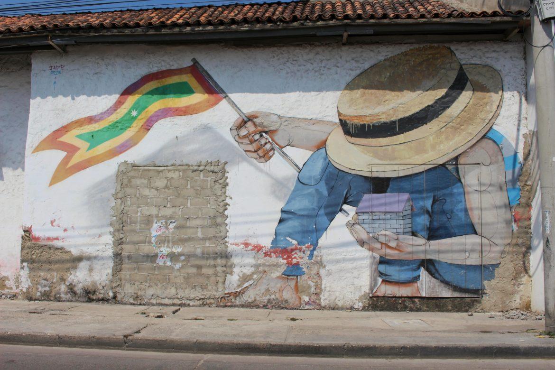 Wall Getsemani street art