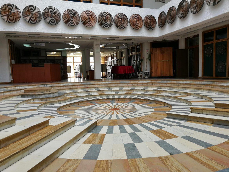Floor inside Pristina Library