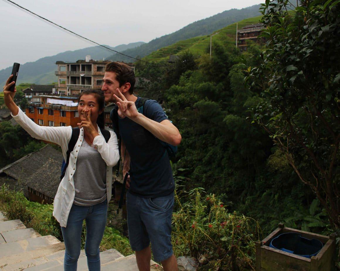 Contact met locals China