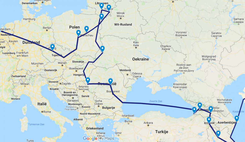 Wereldreisroute door Europa