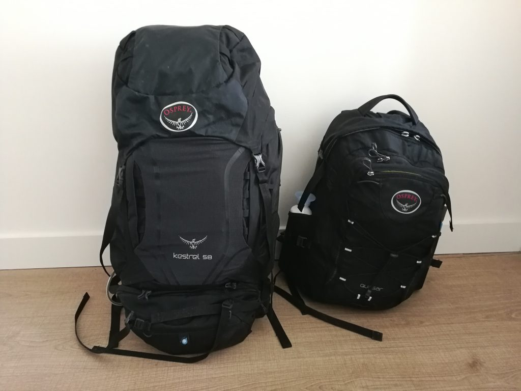 Backpacks wereldreis