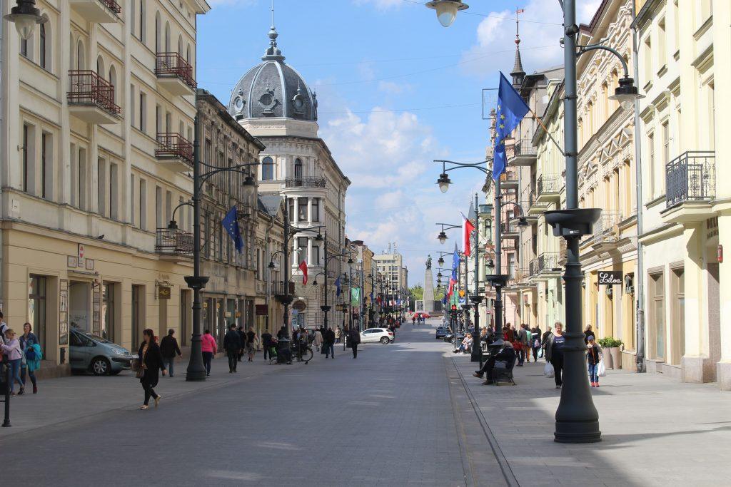 Lodz Piotrowska street