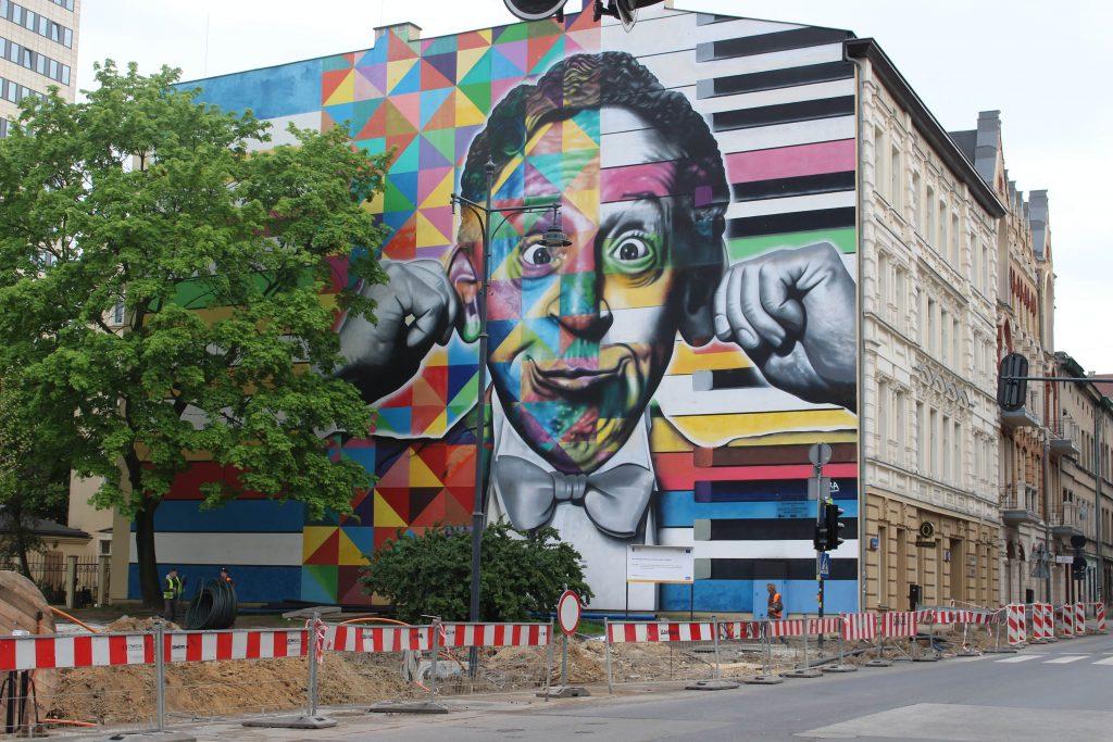 Street art Lodz Polen