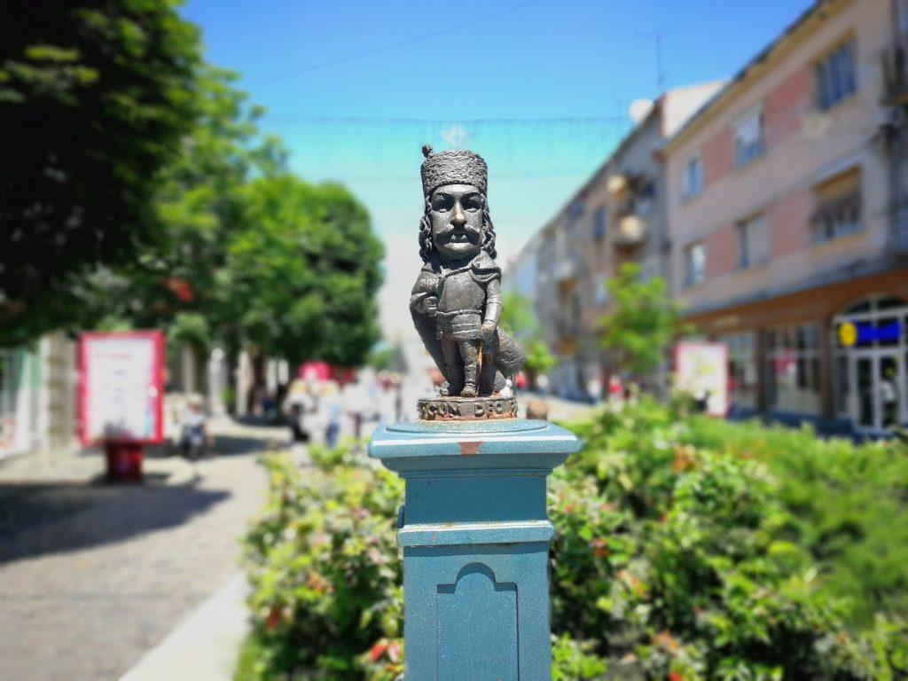 Mukachevo mini statues Ukraine