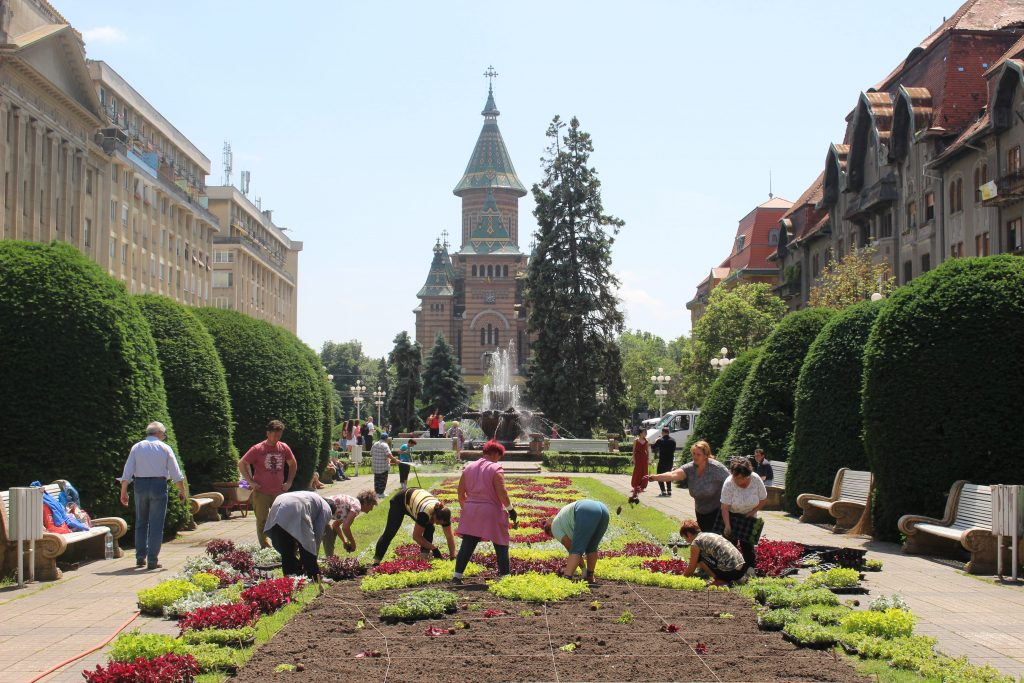 Timisoara plein Roemenie