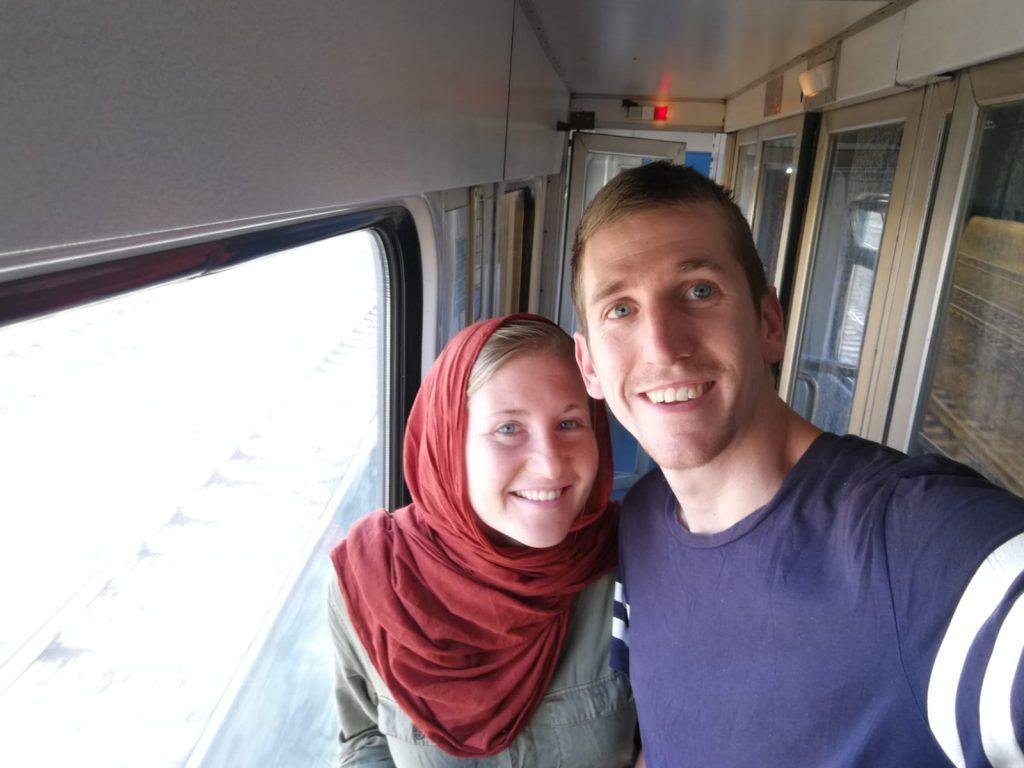 Thieme en Esther trein Iran