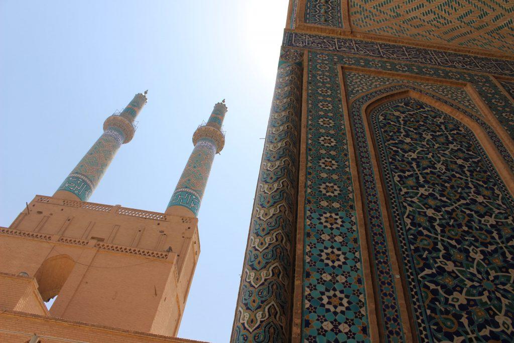 Yazd Iran Friday Mosque detail