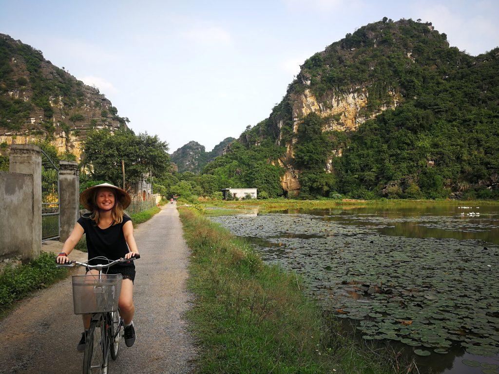 Ninh Binh fietsen in Vietnam