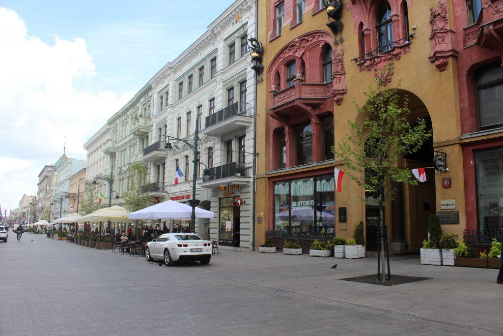 Piotrkowska street Lodz building