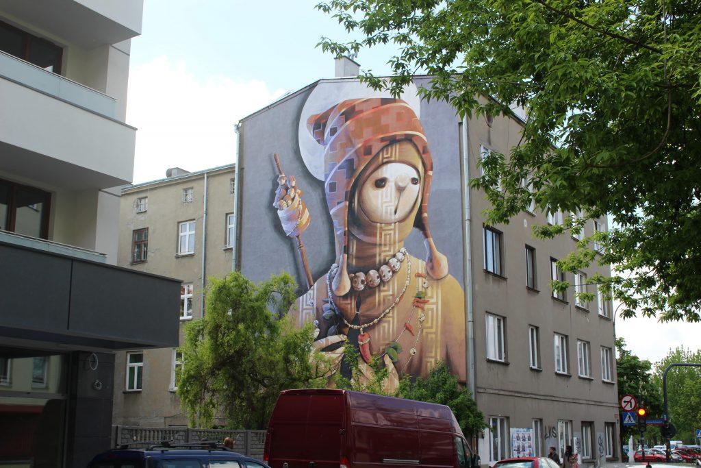 Street art Lodz mural INTI