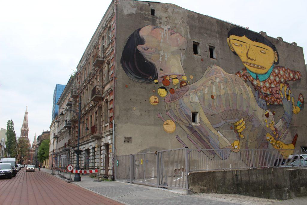 Street art Lodz mural Os Gemeos