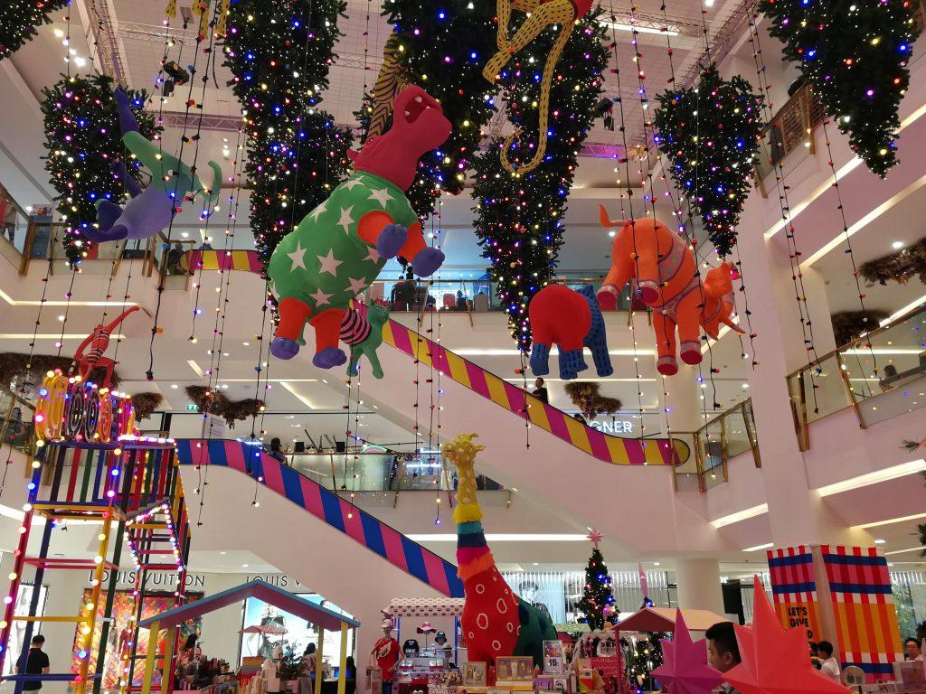 Bangkok Christmas shopping mall