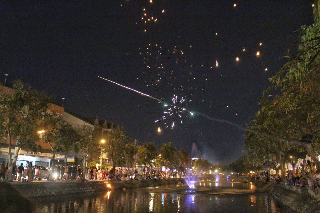 Chiang Mai Thailand fireworks