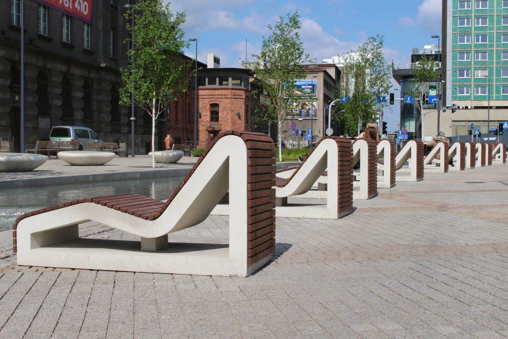 Rynek Katowice Poland chairs
