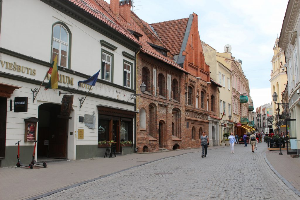 Street in Vilnius downtown