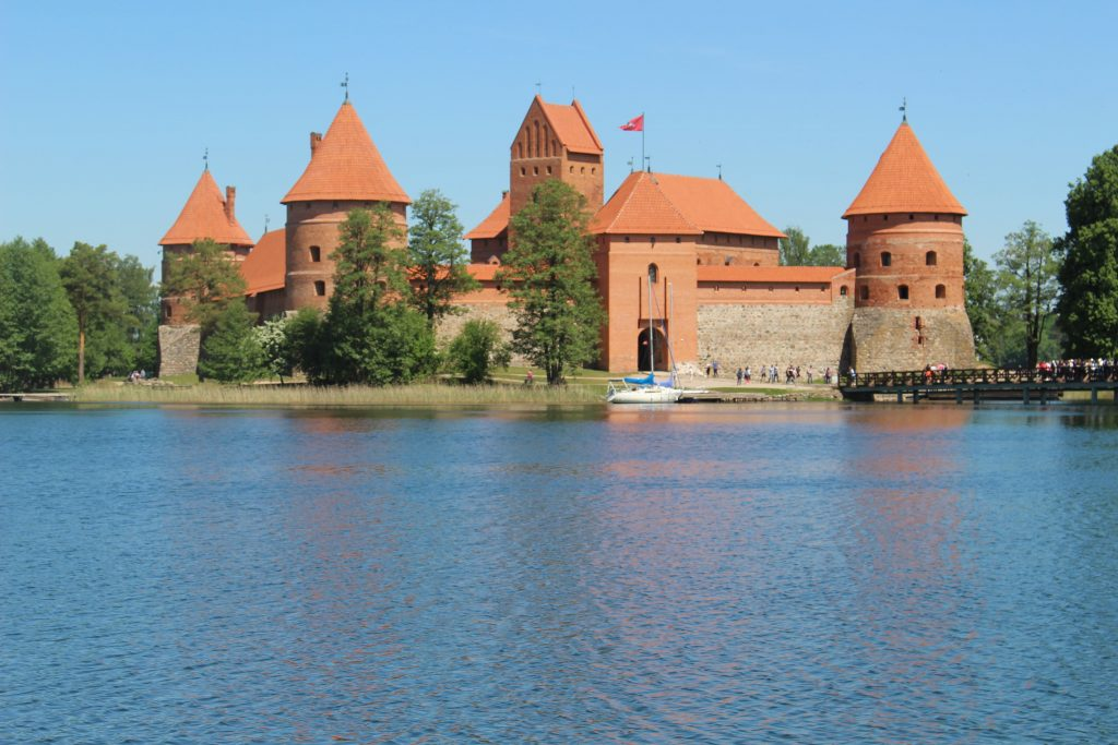 Trakai castle from distance Lithuania